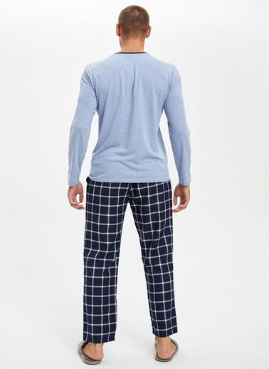 DeFacto Pijama Alt ve Üst Takım Mavi